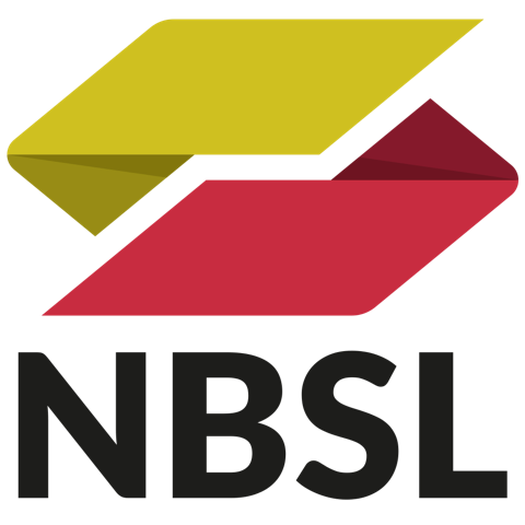 NBSL logo with black text